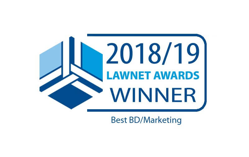 2018 LawNet Best BD/Marketing Winner