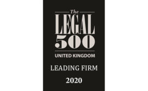 Legal 500 - Leading Firm 2020