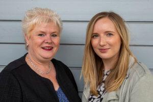 L-R: Lynn Wicks and Sophie Newman