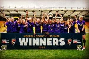 Wymondham Ladies win County Cup
